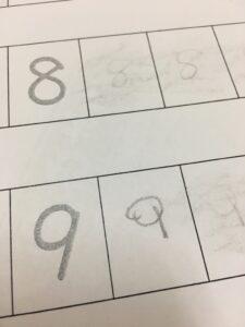 数字の練習